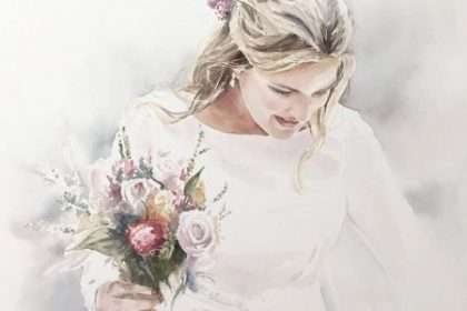 fotógrafo de bodas y acuarela